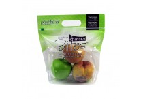 Best selling transparent zipper resealable stand up fruits bag vegetable bag with hole